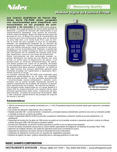 FG-7000 Digital Medidor de Fuerza