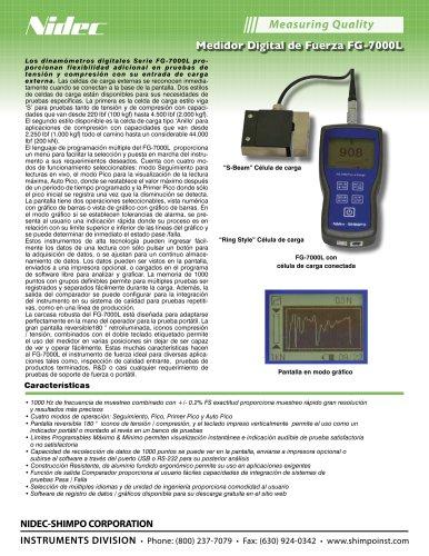 FG-7000L Digital Medidor de Fuerza