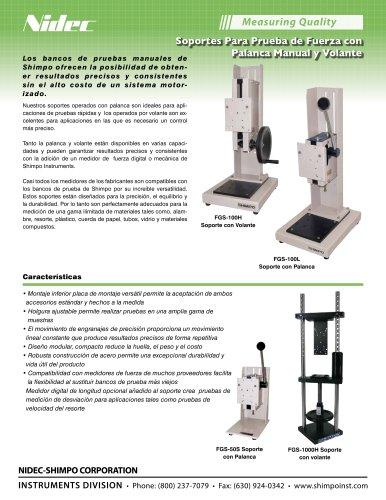 FGS-100H Soportes de Prueba Manual