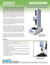 FGS-VC Motorized Force Test Stands with PC Control & Data Logging