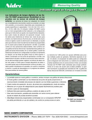 Indicador Digital de Torque FG-7000T