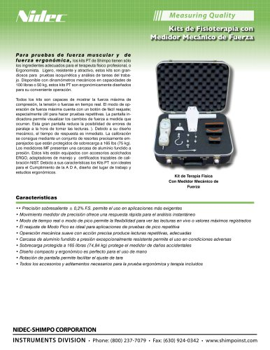 Kits Medidor Mecánico de Fuerza Para pruebas de fuerza muscular y de fuerza ergonómica