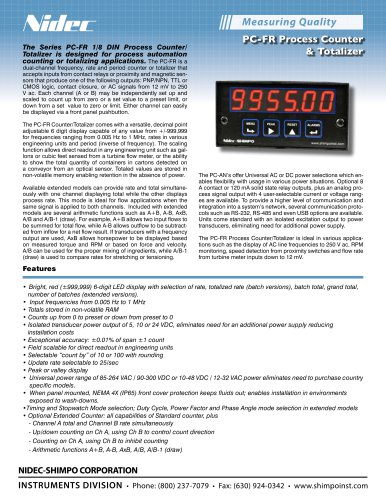 PC-FR Process Counter Totalizer