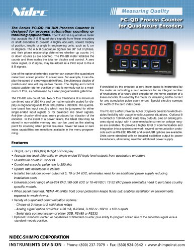PC-QD Process Counter Totalizer