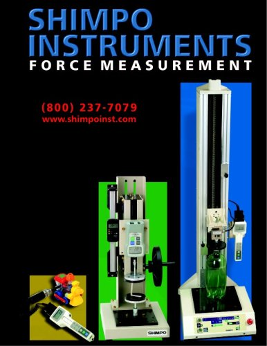 SHIMPO - Force measurement