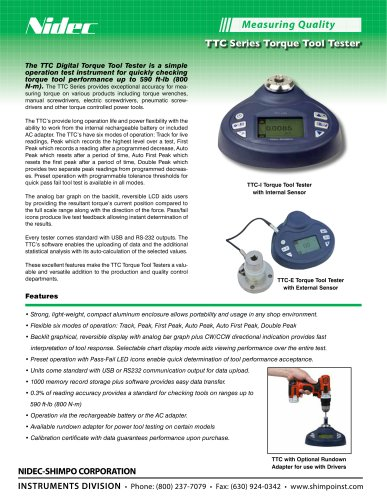 TTC Digital Torque Tool Tester