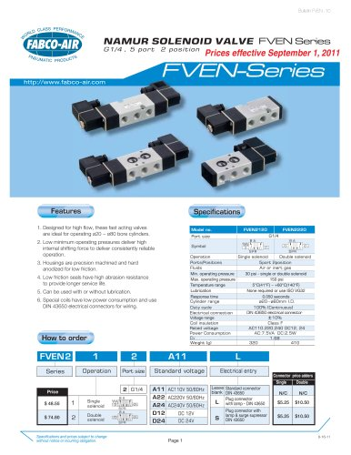 FVEN NAMUR Series Control Valves