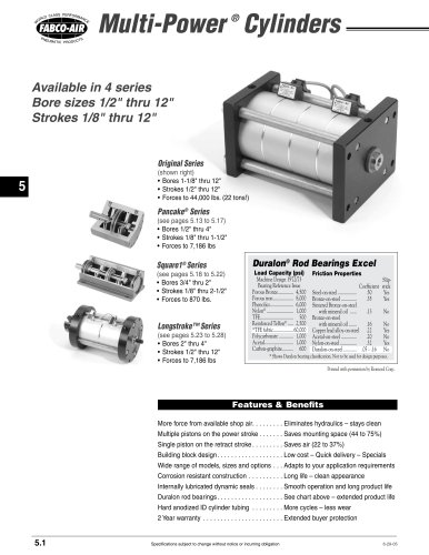 Multi-Power Cylinder section of CV9 Catalog