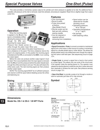 Special Purpose Valve section of CV9 Catalog
