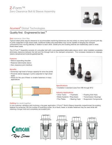 Z-Form® Zero Clearance Bolt & Sleeve Assembly
