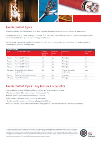 Fire Retardant  and Semi-Conductive Tapes