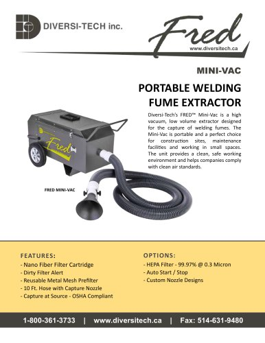 Fred Mini-Vac Fume Extractor Brochure