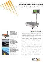 Baykon BCS243 Series Bench Scales