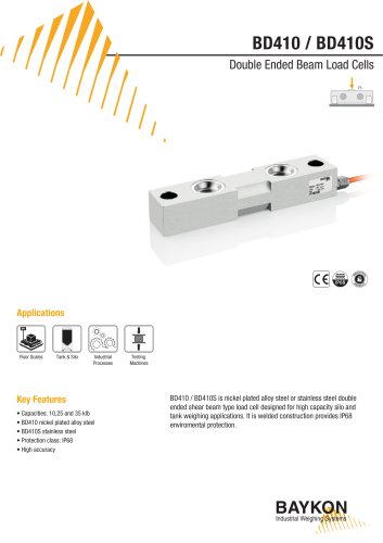 Baykon BD410 / BD410S Double Ended Beam Load Cells
