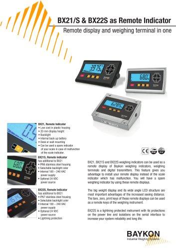 Baykon BX21/S & BX22S as Remote Indicator
