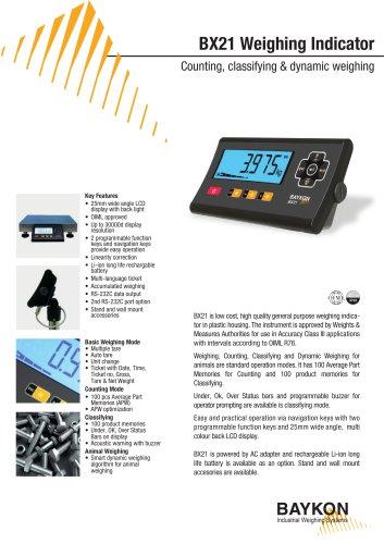 Baykon BX21 Weighing Indicator
