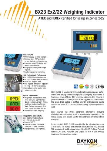 Baykon BX23 Ex Weighing Indicator