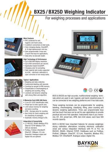 Baykon BX25 / BX25D Weighing Indicator