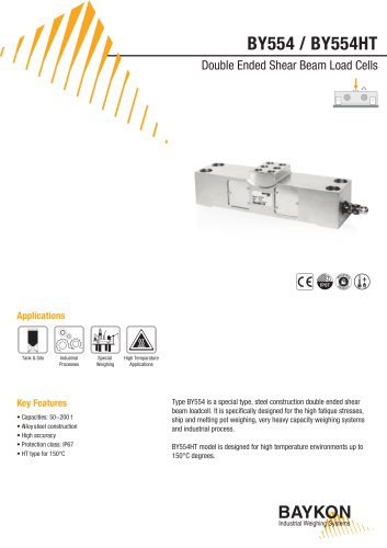 Baykon BY554 / BY554HT Double Ended Beam Load Cells