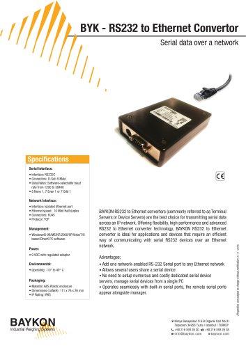 Baykon BYK RS232 to Ethernet Convertor
