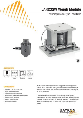 Baykon LARC3SW Weigh Module For Compression Type Load Cells