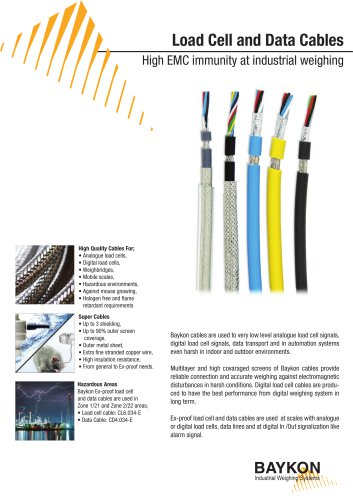 Baykon Load Cell and Data Cables