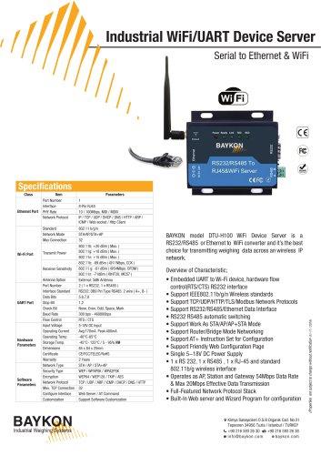 Industrial WiFi/UART Device Server