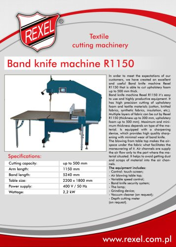 Band knife machines REXEL
