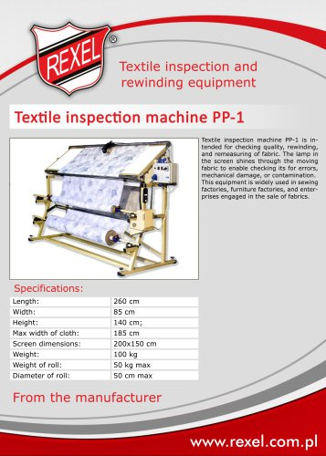 Fabric inspection and rewinding machinery REXEL