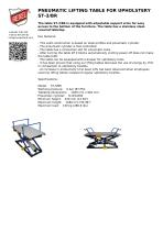 PNEUMATIC LIFTING TABLE FOR UPHOLSTERY ST-3/BR