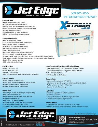 90,000 PSI X-Stream xp90-100 Waterjet Intensifier Pump