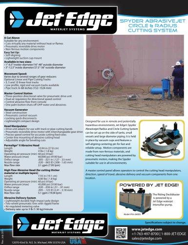Abrasivejet Circle & Radius Cutting System - Spyder