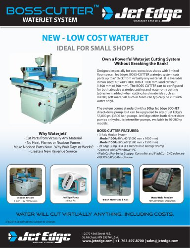 BOSS-CUTTER Waterjet
