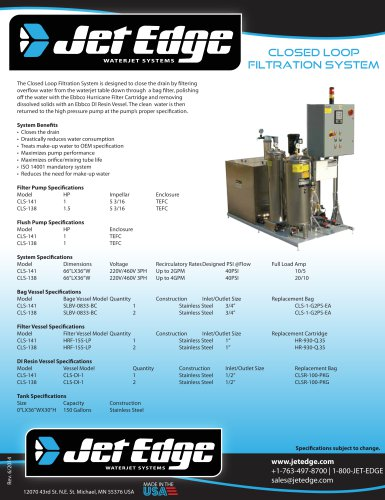 CLOSED LOOP FILTRATION SYSTEM