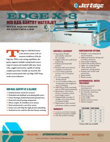 Edge X-3 Mid Rail Gantry Waterjet System