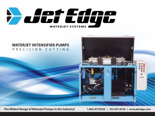 Intensifier Pumps for Precision Cutting/Cleaning