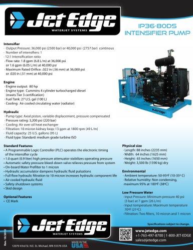 IP36-80DS DIESEL WATERJET PUMP