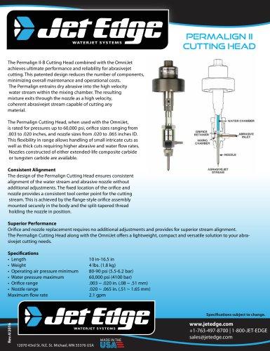 PERMALIGN® II ABRASIVE WATERJET CUTTING HEAD