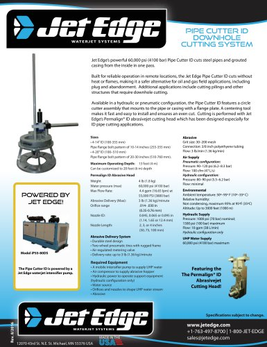 Pipe Cutter ID downhole cutting system