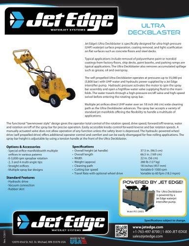 Ultra Deckblaster - Waterjet Surface Preparation, Coating Removal Tool