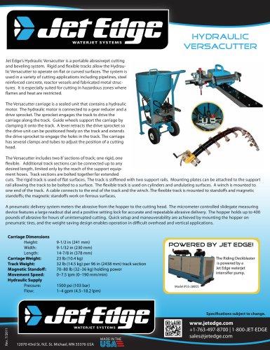 Versacutter - Mobile Waterjet Cutting System