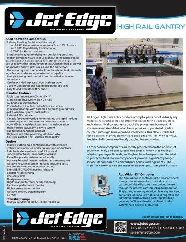 Waterjet Cutting System - High Rail Gantry