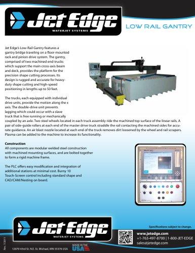 Waterjet Cutting System - Low Rail Gantry (Large Format)