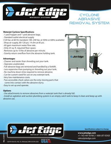 WATERJET CYCLONE ABRASIVE REMOVAL SYSTEM