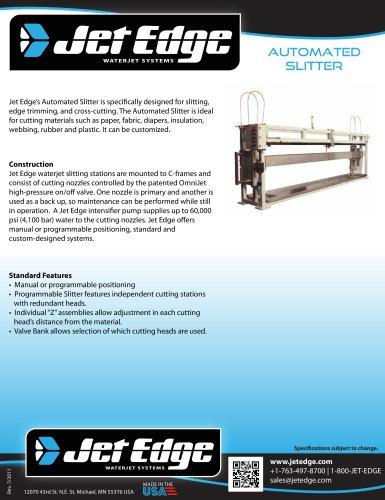 Waterjet Slitting System - Automated Slitter