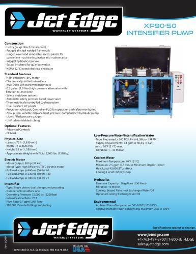 xp90-50 intensifier pump