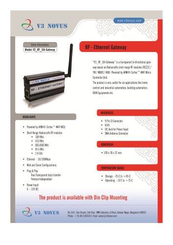 RF to Ethernet Gateway