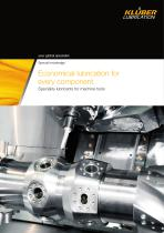 Machine tools - Economical lubrication for every component