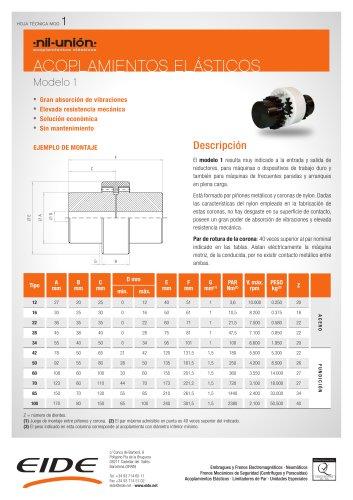 Acoplamiento elástico Modelo 1