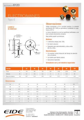 Electroimanes industriales de corriente continua